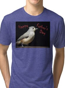 Happy Father's Day - Little Gray Bird Tri-blend T-Shirt