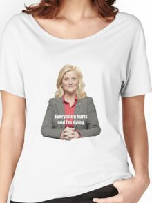 Leslie Knope Sticker Parks and Rec Women's Relaxed Fit T-Shirt