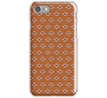 Simple seamless knitting pattern. Autumn orange background.  iPhone Case/Skin