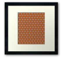 Simple seamless knitting pattern. Autumn orange background.  Framed Print