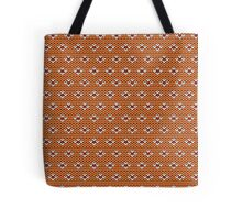 Simple seamless knitting pattern. Autumn orange background.  Tote Bag