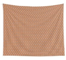 Simple seamless knitting pattern. Autumn orange background.  Wall Tapestry