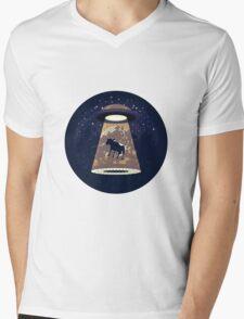 Beware UFO II Mens V-Neck T-Shirt