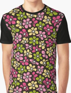 Little flower doodle seamless pattern.  Beautiful background.  Graphic T-Shirt