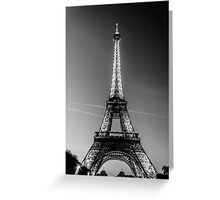Eiffel Tower and sunset (Black and White) Greeting Card