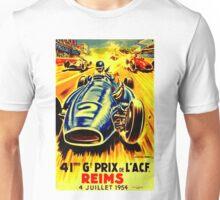 REIMS GRAND PRIX; Vintage Auto Racing Print Unisex T-Shirt