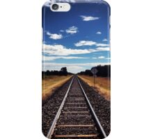 Rural rail tracks - Moree. NSW iPhone Case/Skin