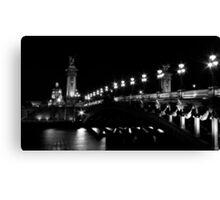 Pont Alexandre 3 (Black and White) Canvas Print