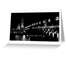 Pont Alexandre 3 (Black and White) Greeting Card