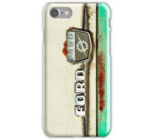Turquoise Rusted Ford F100 iPhone Case/Skin