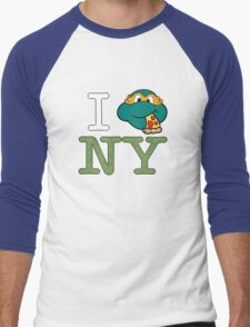 New York Mikey  Men's Baseball ¾ T-Shirt