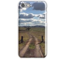 Winding road and cloudscape - Orange. NSW iPhone Case/Skin