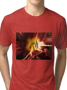 Red yellow day lily  Tri-blend T-Shirt
