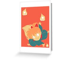 Fox Flame Greeting Card