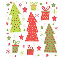 Christmas design - green and red Photographic Print
