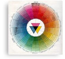 Ancient Colour Wheel Canvas Print
