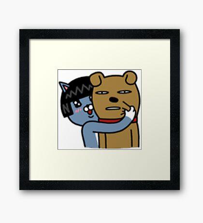 KakaoTalk Friends Neo & Frodo Framed Print