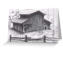 Castle Crags Abandoned Barn  Greeting Card