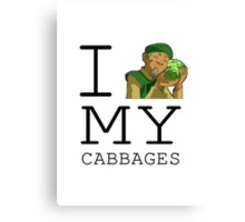 I Love My Cabbages Canvas Print