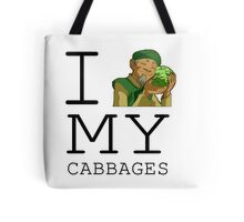 I Love My Cabbages Tote Bag