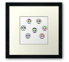 Dia de Los Muertos Sugar Skulls Framed Print