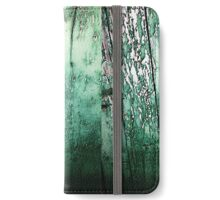 Vintage green barn rustic planks iPhone Wallet/Case/Skin