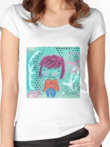 Crayon Girl Women's Fitted Scoop T-Shirt