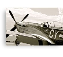 P-51 Mustang Fighter Plane Canvas Print