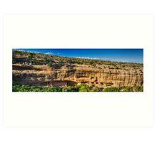 Cliff Dwelling Indian Ruins Panorama Art Print