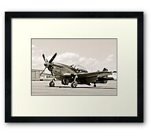 P-51 Classic Mustang WW2 Fighter Plane Framed Print