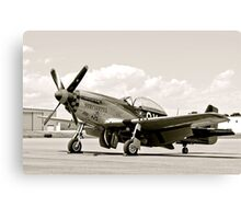 P-51 Classic Mustang WW2 Fighter Plane Canvas Print