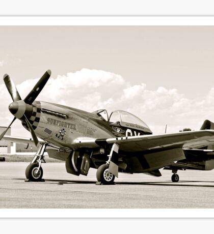 P-51 Classic Mustang WW2 Fighter Plane Sticker
