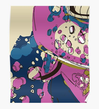 Spacey garden abstract Poster