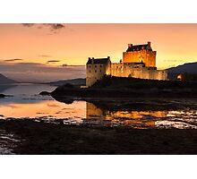 Eilean Donan Castle Sunset Photographic Print