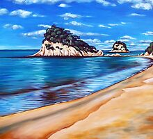 Kaiteriteri Beach New Zealand NZ by Ira Mitchell-Kirk