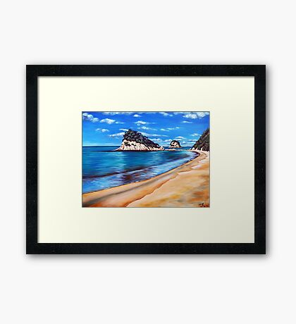 Kaiteriteri Beach New Zealand NZ Framed Print