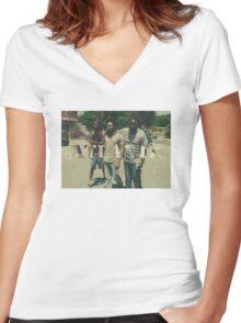 Donald Glover - Atlanta 'Walk'  Women's Fitted V-Neck T-Shirt