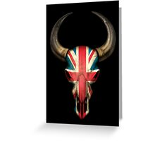 British Flag Bull Skull Greeting Card