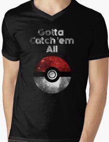 Pokemon Minimalist Nebula Design Mens V-Neck T-Shirt