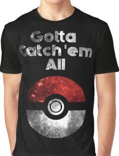 Pokemon Minimalist Nebula Design Graphic T-Shirt