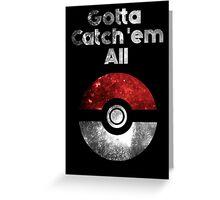 Pokemon Minimalist Nebula Design Greeting Card
