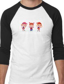 Collection of cute winter children Men's Baseball ¾ T-Shirt