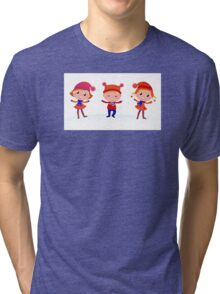 Collection of cute winter children Tri-blend T-Shirt