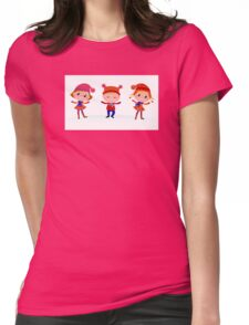Collection of cute winter children Womens Fitted T-Shirt