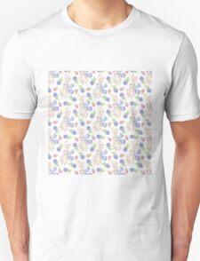 Cute white pink lavender watercolor bunny berries  Unisex T-Shirt