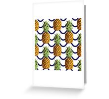 Pineapple and wave stripes Greeting Card