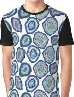 Blue agate crystal gemstones Graphic T-Shirt
