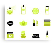 Modern cosmetics and spa icons : unique in our Designers Shop Canvas Print