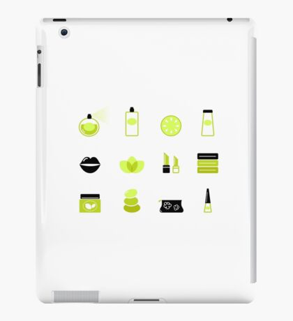 Modern cosmetics and spa icons : unique in our Designers Shop iPad Case/Skin