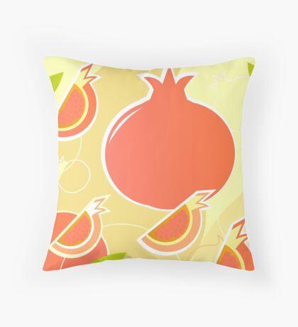 Retro Pomegranate texture or background Throw Pillow